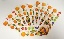 "Creative Memories Sticker Sheet Lot 10 Thanksgiving Cornucopia 2"" x 5"""