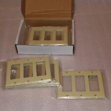 10-pack, Ivory, 3-Gang Decora Wall Plates