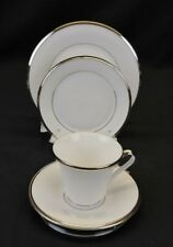 LENOX Solitaire White Fine Bone China ,4pc Set, No Dinner Plate,New Never Used