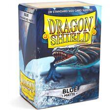 Matte Dragon Shield Standard Size Card Protector Sleeves MTG 100ct Blue box