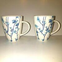 Oriental Blossom  2 Coffee/Tea Cups By Lisa Doustas~ Maxwell Williams Designer