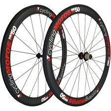 cyclingMOFOS MOFO50 Full Carbon Fiber Clincher Wheelset 50x23mm Shimano/SRAM NEW