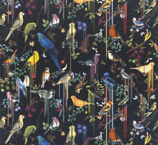 DESIGNERS GUILD/CHRISTIAN LACROIX FABRIC BIRDS SINFONIA CREPUSCULE 2.10mx137cm