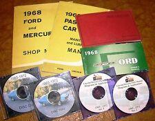 1968 Ford Mercury Shop Manual Parts Galaxie 500 XL LTD Custom 500 Squire Marquis