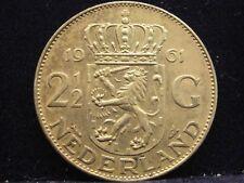 Países Bajos 2 1/2 florines 1961 reina Juliana plata% 720 nr223