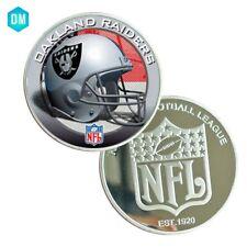 OAKLAND RAIDERS NFL Team Souvenir Coin 999.9 Silver Plated Metal Coin Festival