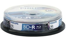 10 Philips Rohlinge Blu-ray BD-R 25GB 6x Spindel