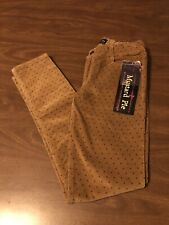 NEW Girl's Mustard Pie Corduroy Skinnies Pants Size 10 (FREE SHIPPING)