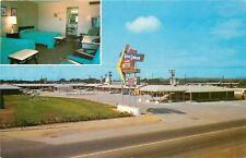 Russellville Arkansas~Background Musie~Holley Johnson Motor Hotel~1950s Postcard