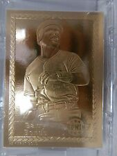 1993 Barry Bonds Promint 22 Karat Gold Baseball Card This Is My Life With COA
