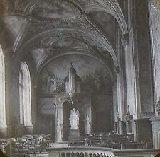 Chapel Interior Palace of Luxembourg, Paris, France, Magic Lantern Glass Slide