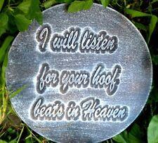 Plaster concrete Pet Memorial horse plastic mold hoof beats in heaven