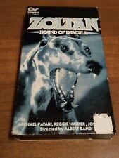 Zoltan Hound of Dracula VHS Horror 1990 Congress Video Albert Band rare OOP HTF