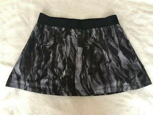 Nike Printed Tennis Skirt Skort Grey / Black / White S Small