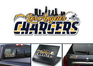 Los Angeles Chargers Bumper Window Vinyl Decal 8x3.5