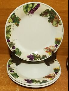 "Oneida GRAPEVINE Salad plate set of 3, 7 1/8"", Stoneware, Very good"