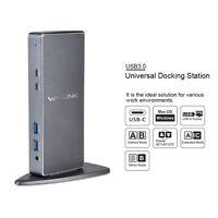 Wavlink USB3.0 Universal Docking Station,Docks Designed for Windows/Macbook