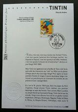 France Cartoons Tintin 2000 Animation Comic Dog (stamp on info sheet) *rare