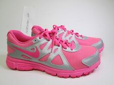Nike Revolution 2 GS girls athletic shoes sz 7Y pink silver style 555090 011 NEW