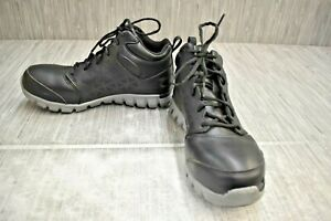 Reebok Sublite Cushion Work RB4142 Alloy Toe SR Work Shoes, Men's Size 8M, Black