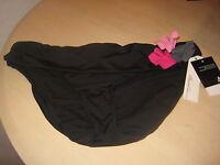 Kenneth Cole New York Swimwear XL Womens New Band Waist Bikini Bottoms Black