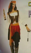Lady's Caribbean Pirate Wench women Costume Party/Halloween