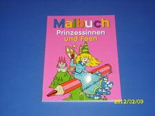 Malbuch Prinzessinnen und Feen - ab 4 Jahren