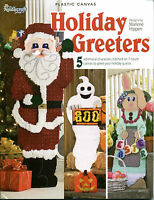 HOLIDAY GREETERS Plastic Canvas 5 Designs The Needlecraft Shop BOOK