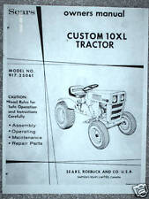 917.25061 Sears Custom 10XL Tractor- Owners Manual on CD