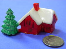 VINTAGE,COLLECTIBLES, 3 MINI PLASTIC,HOUSES, Fairy Garden Homes, Made-Hong Kong