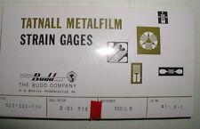 Budd Strain Gage Rosettes * C12-111-R3A *120 ohm*gage factor 2.01*NOS* qty of 1