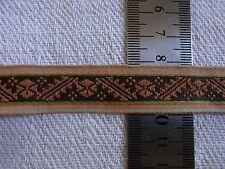 DRG32 Ancien ruban galon tissé brodé 1,9x240cm VINTAGE ribbon braid Lazo tejido