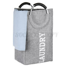 Foldable Oxford Laundry Basket Washing Basket Hamper Dirty Clothes Storage Gery