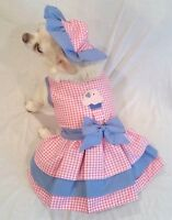 Harness Dress/Dog Dress/Dog clothes/Cupcake Cutie Set XS,S,M,L, XL FREE SHIP