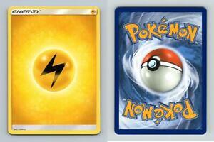 Lightning Energy Sun & Moon Lost Thunder Pokemon 2018 TCG Card