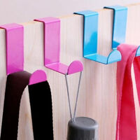 Stainless Steel Over The Door Hooks Bathroom Clothes Hanger Household UK Stock