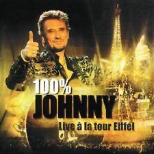 """CD """"100% Johnny - Live a la Tour Eiffel """"  NEUF SOUS BLISTER"""