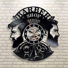 Barber Shop Wall Clock Vinyl Record Clocks Hairdresser Salon Watch Modern Decor