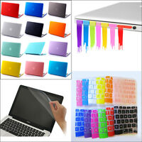 """4in1 Frosted Matte Hard Case Keyboard Cover Plug for MacBook Air Pro 11"""" 13"""" 15"""""""