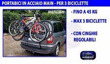 Portabici auto per Alfa 156 Crosswagon 2004>2007 porta 3 biciclette bici acciaio