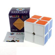 White shengshou JiGuang Aurora 2x2x2 Magic Cube Extreme Smooth Speed Structure