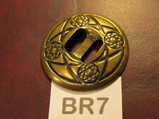 TRINITY CONCHOS ROUND BR 7 Solid Brass VINTAGE High Quality USA Leather Crafts !