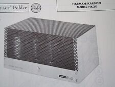 HARMAN KARDON HK20 AMP AMPLIFIER PHOTOFACT