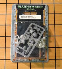 40k Rare oop Blister Metal Space Marine Techmarine w/ Servo Arm (bare head) NIB