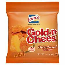 Lance Gold-N-Cheese Baked Snack Crackers Single-Serve 1.25 Ounce Pack of 60