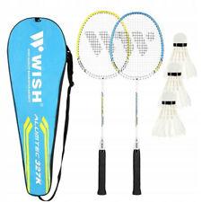 Badminton-Set Wish, 2 Schläger, 3 Federbällen mit Tasche, mehrfarbig