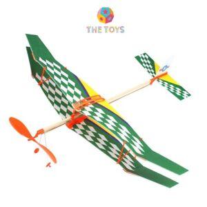 Airplane Rubber Band Elastic Powered Flying Glider Plane Model DIY Kids Toy | UK
