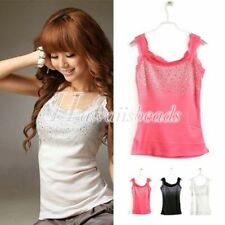 Unbranded Sequin Casual Sleeveless Tops for Women