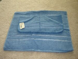 CANNON washcloth and hand towel deep blue MINT WITH TAGS 100% cotton