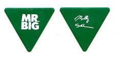 Mr. Big Billy Sheehan Signature Green Triangle Guitar Pick - 2011 Tour Talas